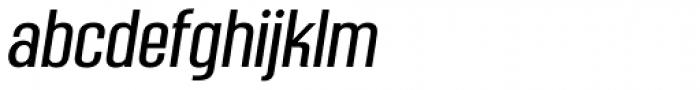 Mailuna Pro AOE Oblique Font LOWERCASE