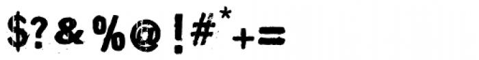 Maim Disfigured Font OTHER CHARS