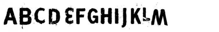 Maim Disfigured Font UPPERCASE