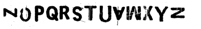 Maim Disfigured Font LOWERCASE