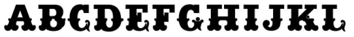 Main Strike Fill Font UPPERCASE