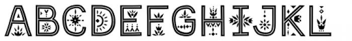Maiolica Inline Font UPPERCASE