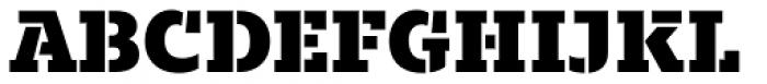 Majora Stencil Black Font UPPERCASE