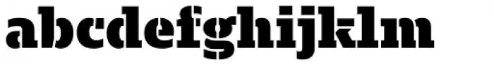 Majora Stencil Black Font LOWERCASE