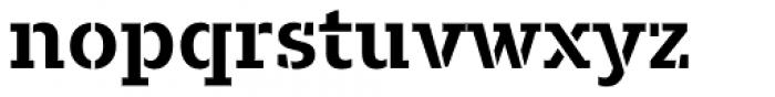 Majora Stencil Bold Font LOWERCASE
