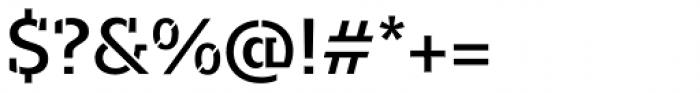 Majora Stencil Semi Bold Font OTHER CHARS
