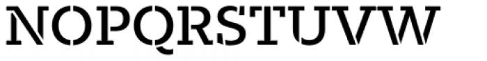 Majora Stencil Semi Bold Font UPPERCASE