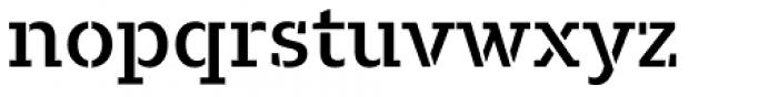 Majora Stencil Semi Bold Font LOWERCASE