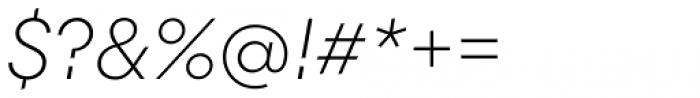 Majorant Thin Italic Font OTHER CHARS