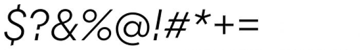 Majorant Ultra Light Italic Font OTHER CHARS
