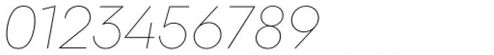 Majorant Ultra Thin Italic Font OTHER CHARS