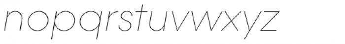 Majorant Ultra Thin Italic Font LOWERCASE