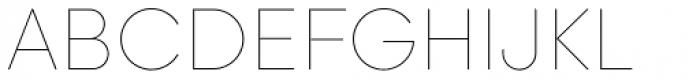 Majorant Ultra Thin Font UPPERCASE