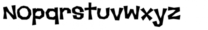Makeshift AOE Bold Font LOWERCASE