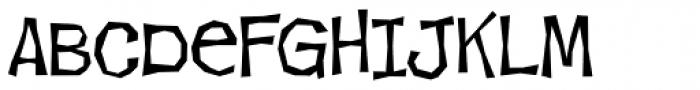 Makeshift AOE Font UPPERCASE