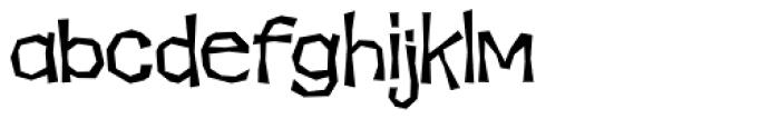 Makeshift AOE Font LOWERCASE