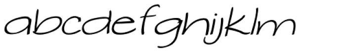 Makika Gris Italic Font LOWERCASE