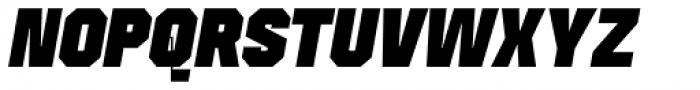 Mako Black Italic Font UPPERCASE