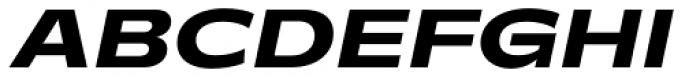 Makro XM Extra Bold Italic Font UPPERCASE