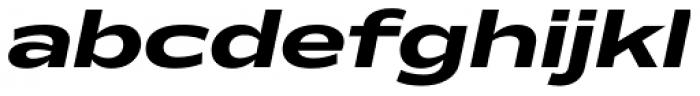 Makro XM Extra Bold Italic Font LOWERCASE