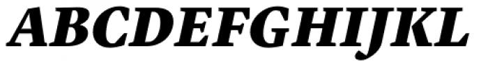 Malabar Pro Heavy Italic Font UPPERCASE