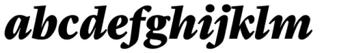 Malabar Pro Heavy Italic Font LOWERCASE