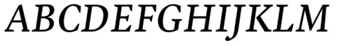 Malabar Pro Italic Font UPPERCASE