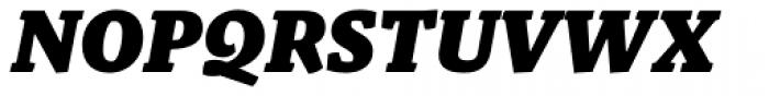 Malaga Black Italic Font UPPERCASE
