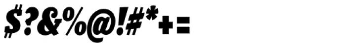 Malaga Narrow Black Italic Font OTHER CHARS