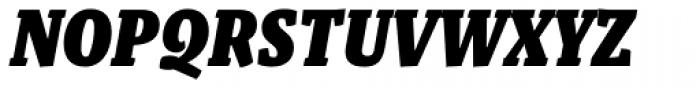 Malaga Narrow Black Italic Font UPPERCASE