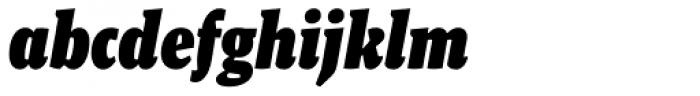 Malaga Narrow Black Italic Font LOWERCASE