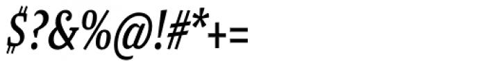 Malaga Narrow Italic Font OTHER CHARS