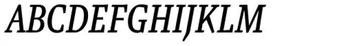 Malaga Narrow Italic Font UPPERCASE