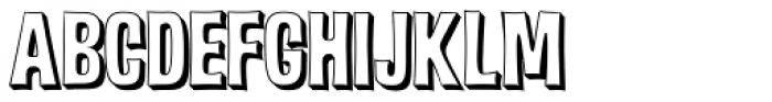 Malamondo 3D Font LOWERCASE