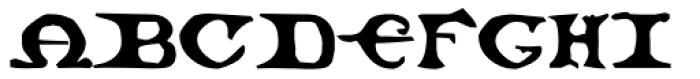 Malebroche Font UPPERCASE
