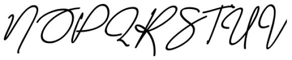 Malibbie Italic Font UPPERCASE