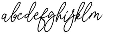 Malibbie Italic Font LOWERCASE