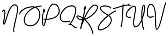 Malibbie Regular Font UPPERCASE