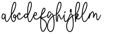 Malibbie Regular Font LOWERCASE