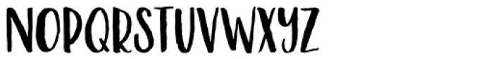 Malibu Punch Rough Font UPPERCASE