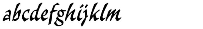 Malibu Std Font LOWERCASE