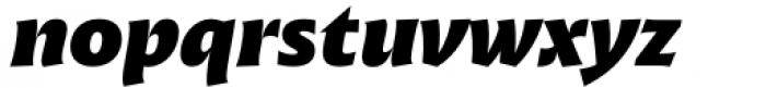 Malik Extrabold Italic Font LOWERCASE