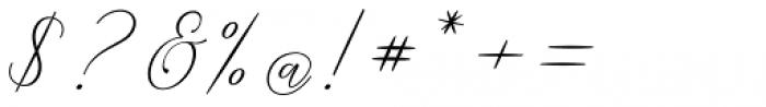 Malisara Script Regular Font OTHER CHARS