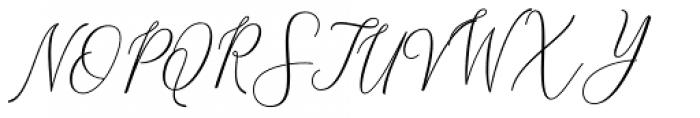 Malisara Script Regular Font UPPERCASE