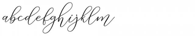 Malisara Script Regular Font LOWERCASE