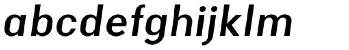Malmo Sans Pro Bold Oblique Font LOWERCASE