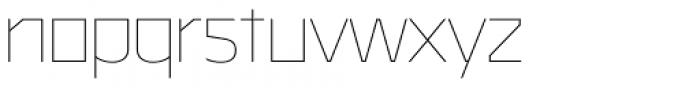 Malte Thin Font LOWERCASE