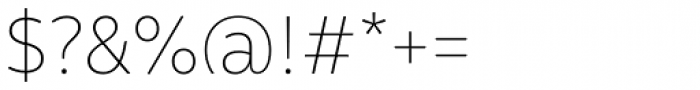 Malva Thin Font OTHER CHARS