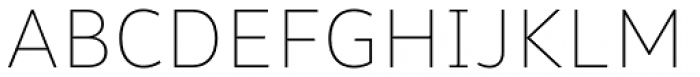 Malva Thin Font UPPERCASE