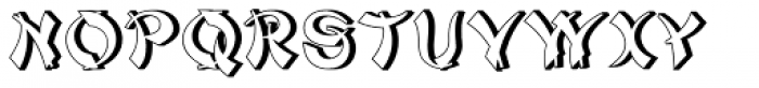Mandarin Relief Font UPPERCASE